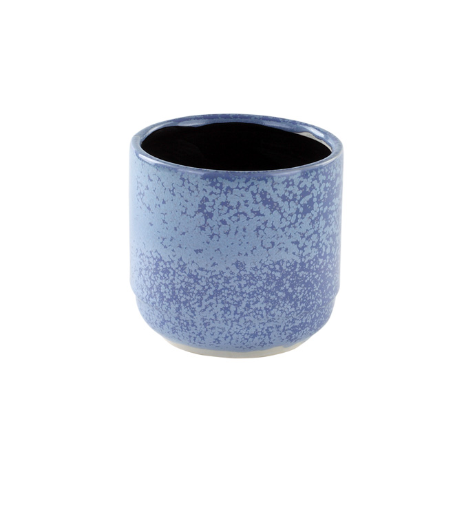 Small Blue Speckled Planter