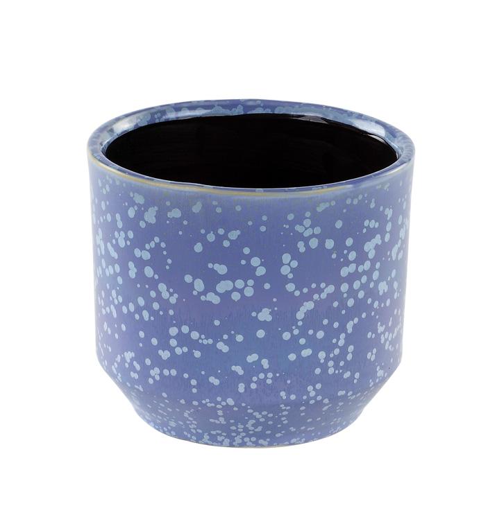 Large Blue Speckled Planter