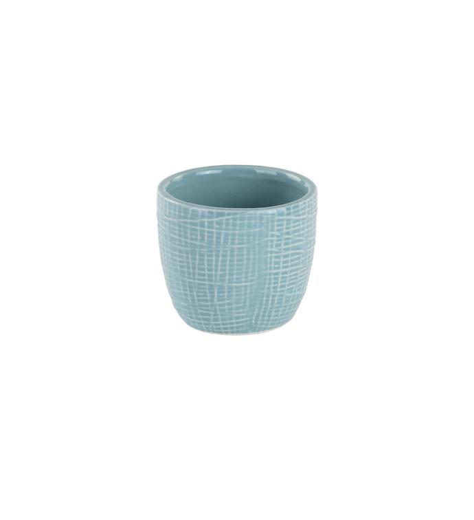Blue Woven Texture Mini Pot