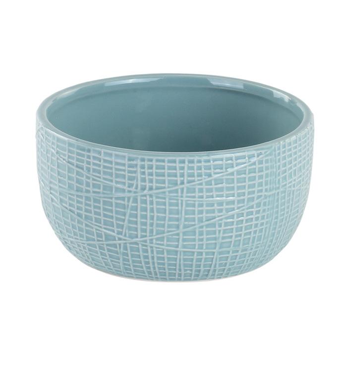 """6"""" Blue Woven Texture Dish Gar"""