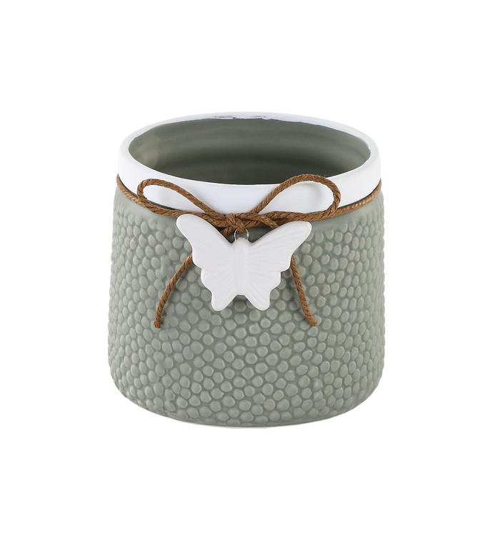 Vase with Butterfly Charm