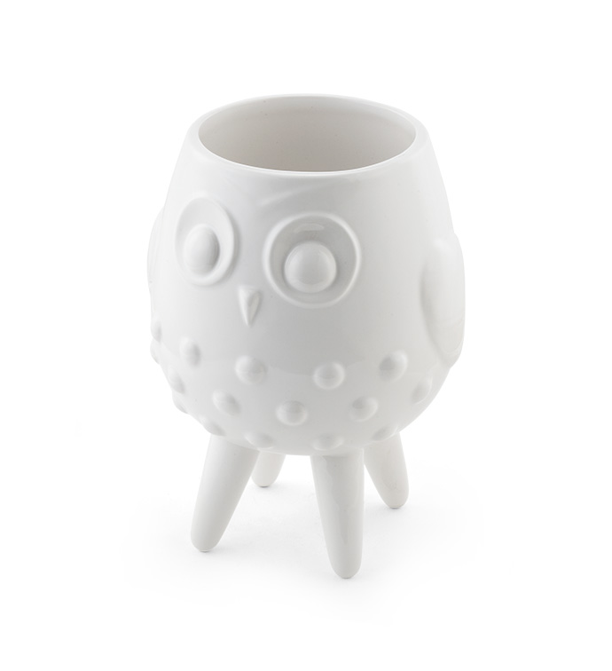 White Footed Owl Planter