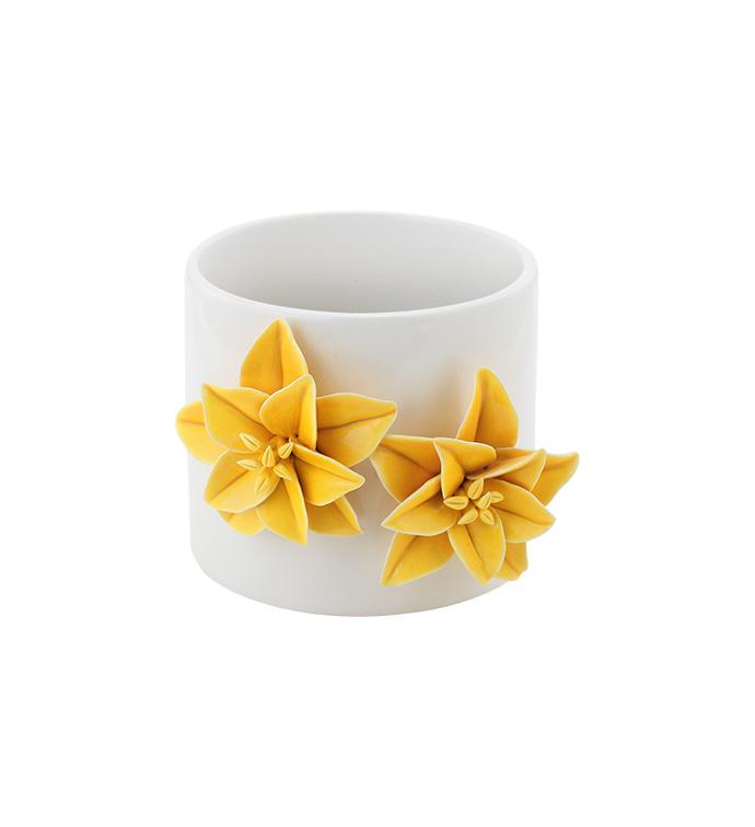 Yellow 3-D Flower Planter