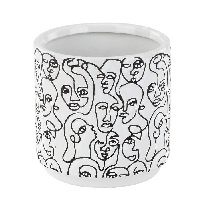 Large Abstract Face Planter