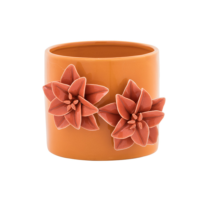 Salmon/Orange 3-D Flower Plant