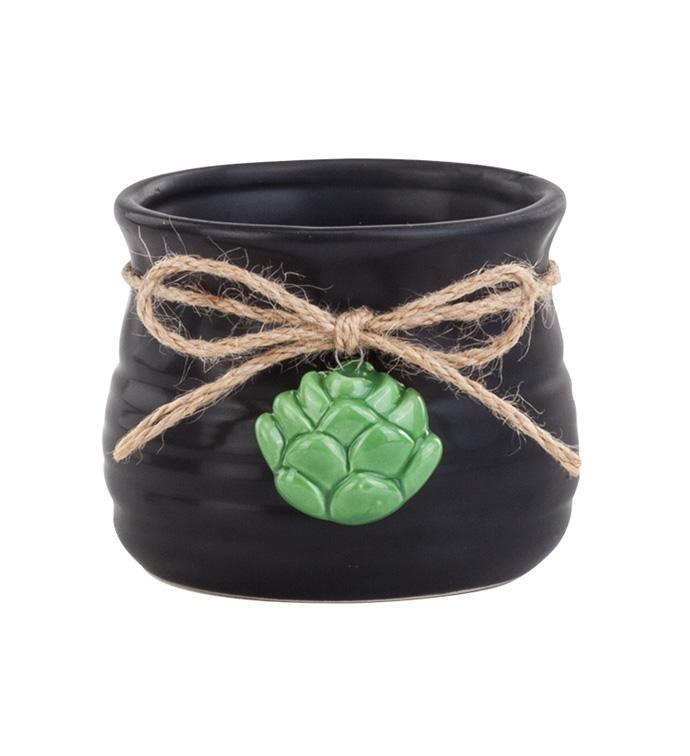 Honey Pot With Succulent Dangle