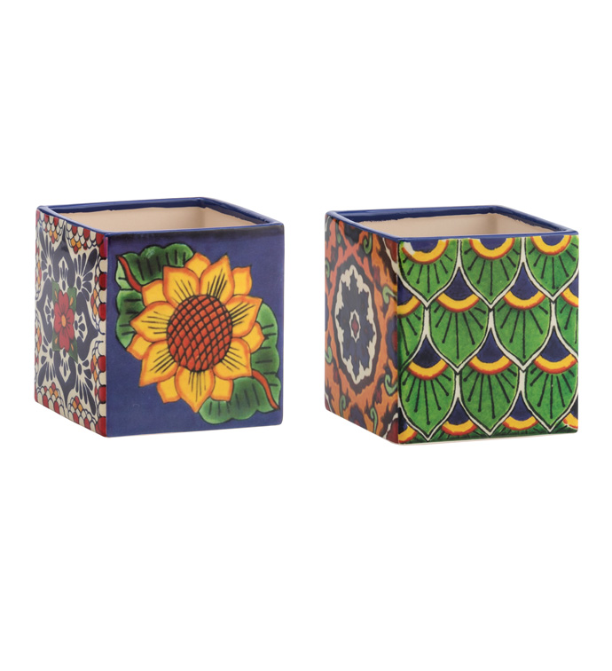 Spanish Tile Square Planter