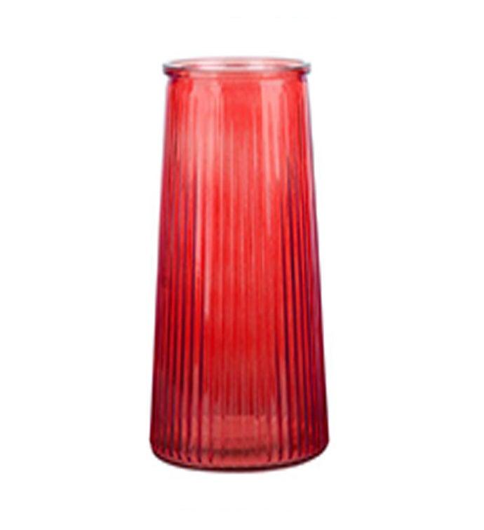 """8.5"""" Red Cinched Vase"""