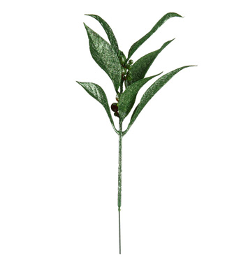 Green Glitter Laurel