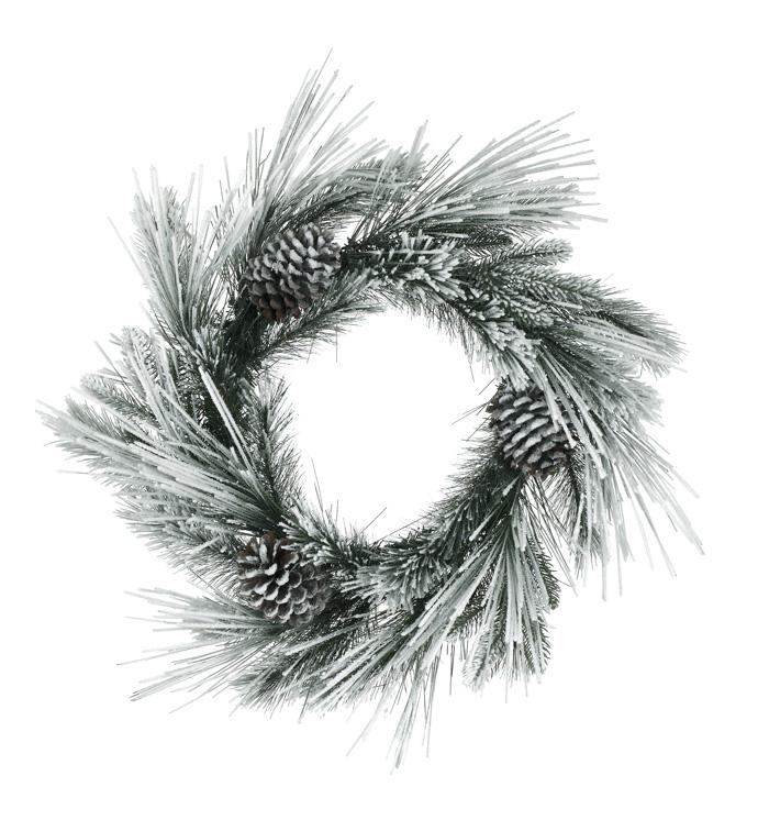 Snow Flocked Pine Wreath