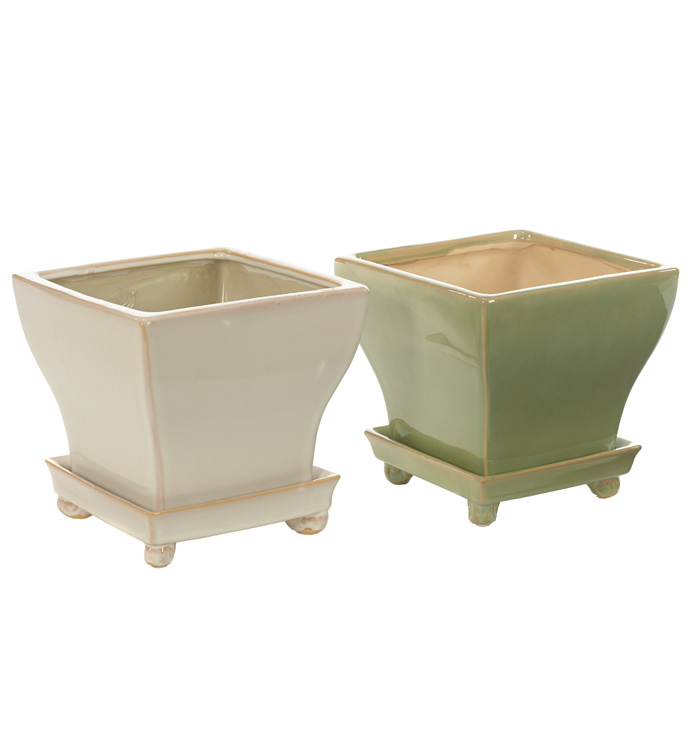 Large Square Planter, 2 Assorted