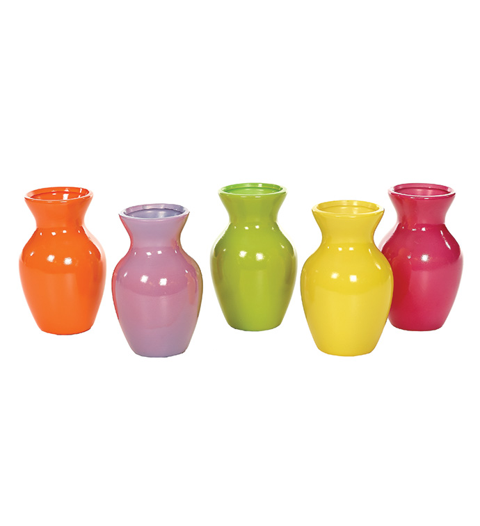 Flower Power Bud Vase, 5 Assorted