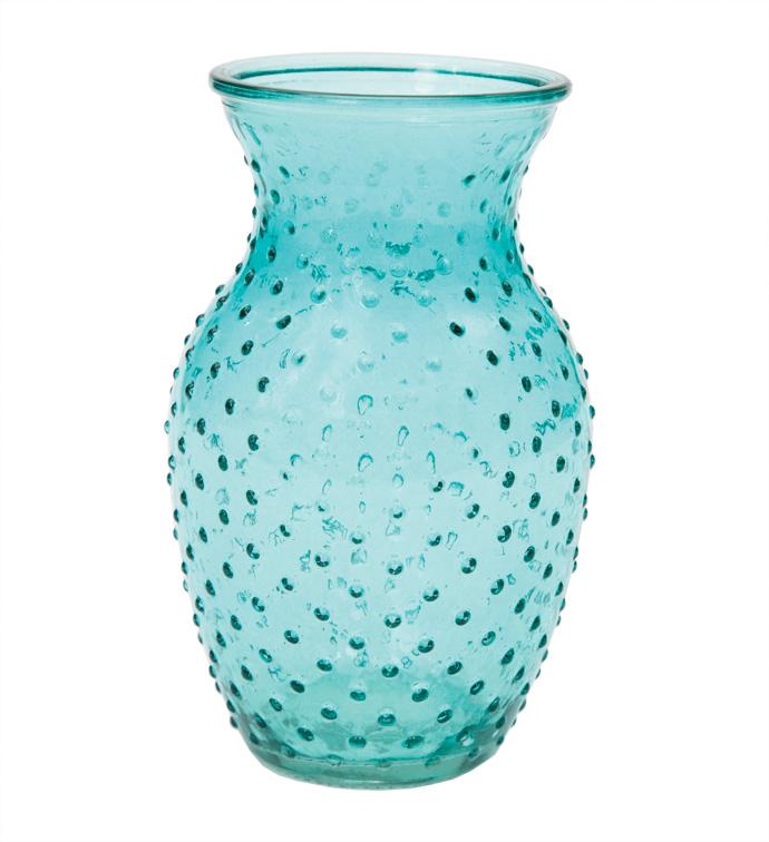 """8"""" Teal Hobnail Vase"""