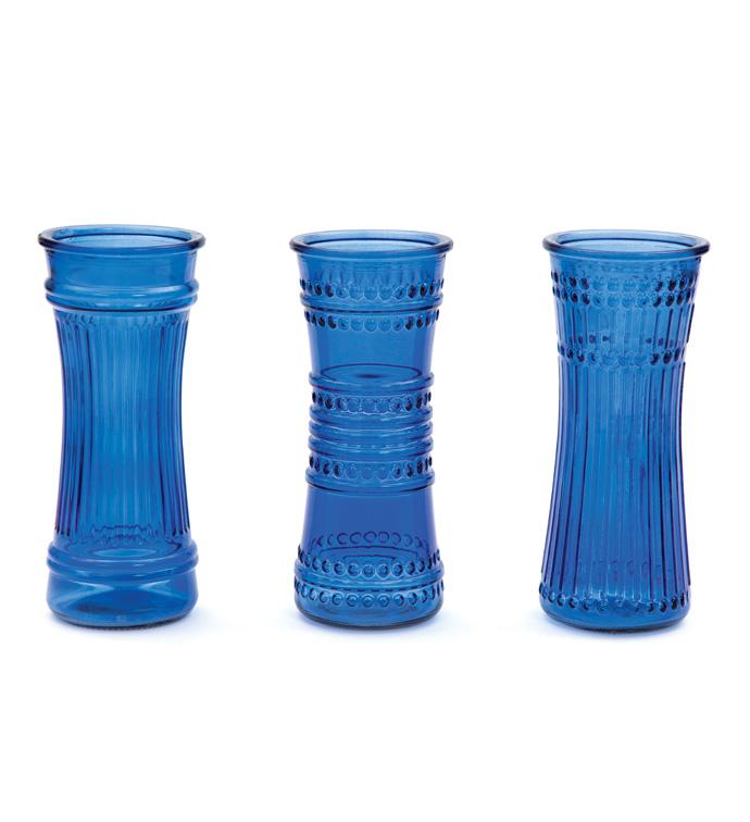 """8.5"""" Cobalt Vintage rose Vase"""