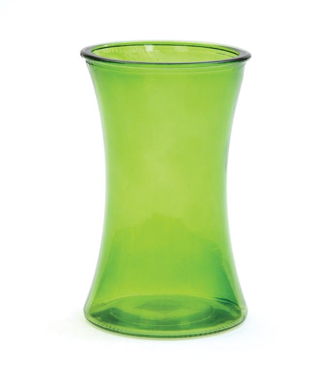 "8"" Green Gathering Vase"