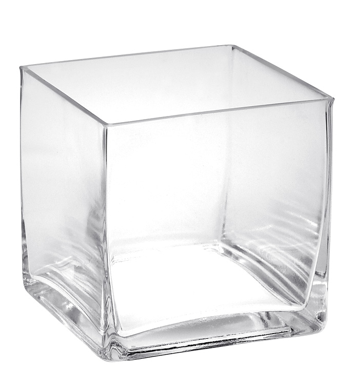"5"" Clear Glass Cube"