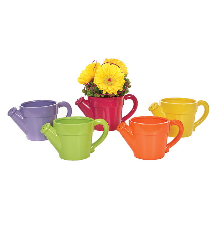 Watering Cans, 5 Assorted Colors Image