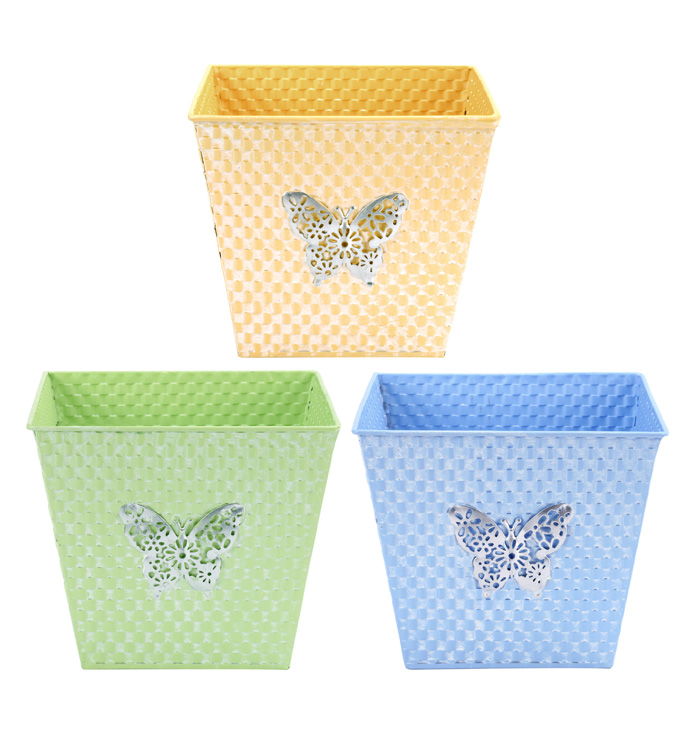 """6.5"""" Square Butterfly Pot Cover,  3"""