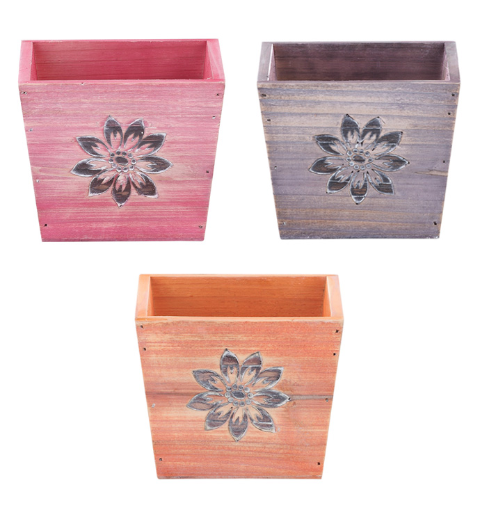 Square Flower Planter, 3 Assorted
