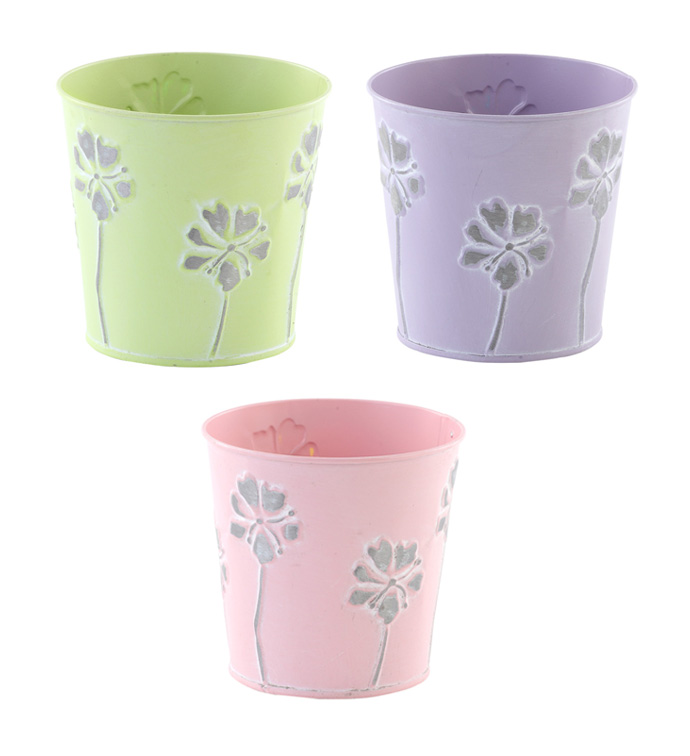 "5"" Posy Pot Cover, 3 Assorted"