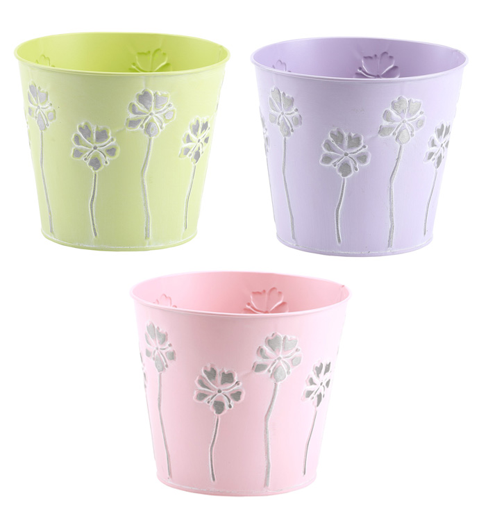 "6.5"" Posy Pot Cover, 3 Assorted"