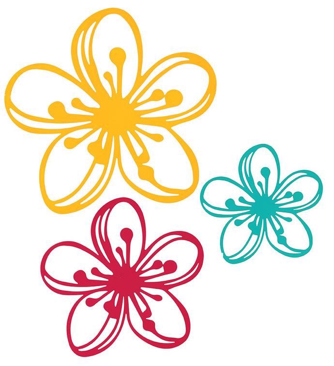Bright Flower Silhouette Plaque, Se