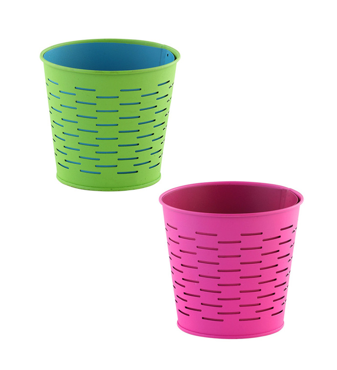 "5"" Pink/Green Pot Cover, 2 Assorted"