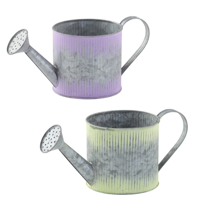 Ombre Corrugate Watering Can, 2 Ass