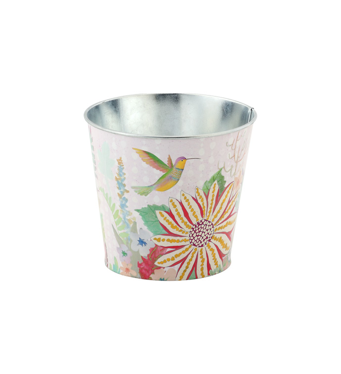 "5"" Daisy/Bird Decal Pot Cover"