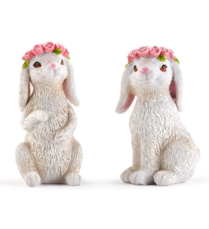 Flower Bunny, 2 Assorted