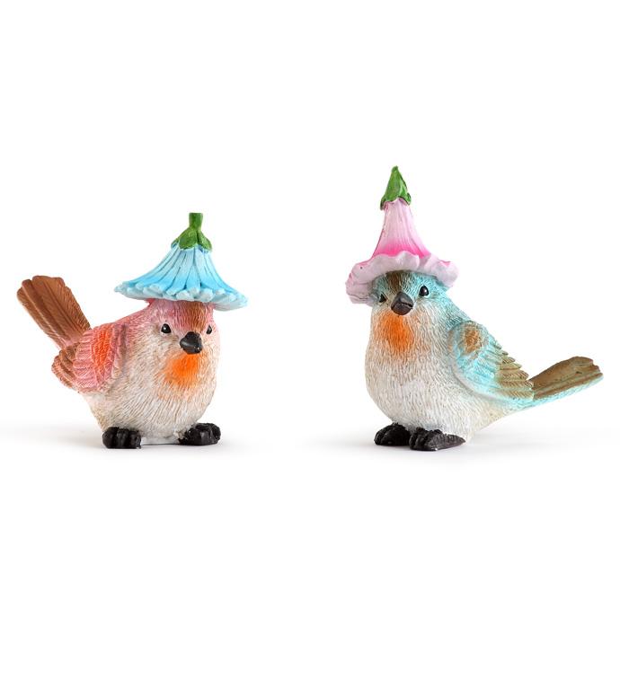 Large Bird w/ Hat, 2 Assorted
