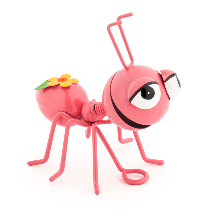 Pink Ant with Flowers