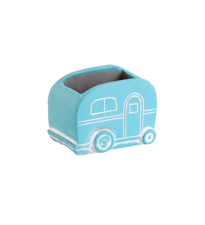 Blue Camper Planter