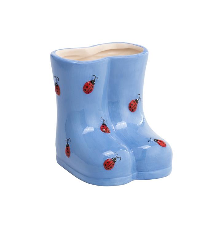 Ladybug Rain Boots Planter