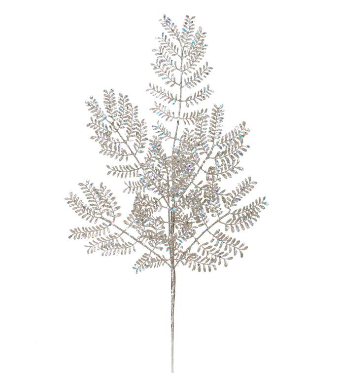 Platinum Glitter Mimosa Spray