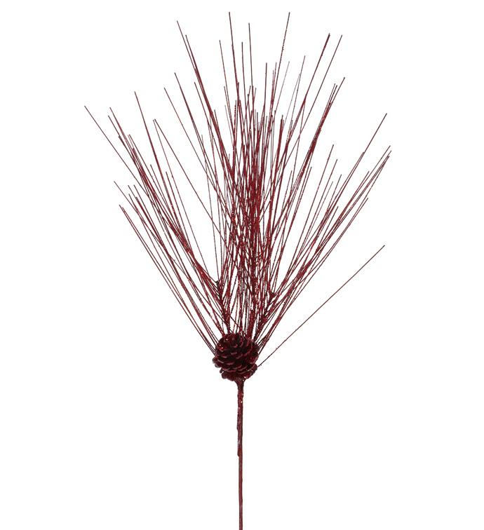 Red Glitter Pine/Cone Spray