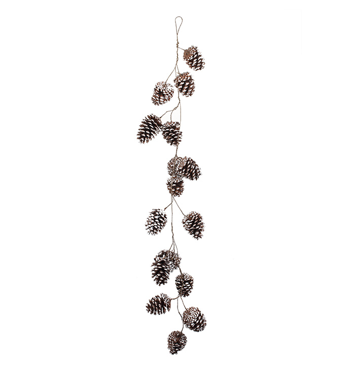 White Wash Pine Cone Garland