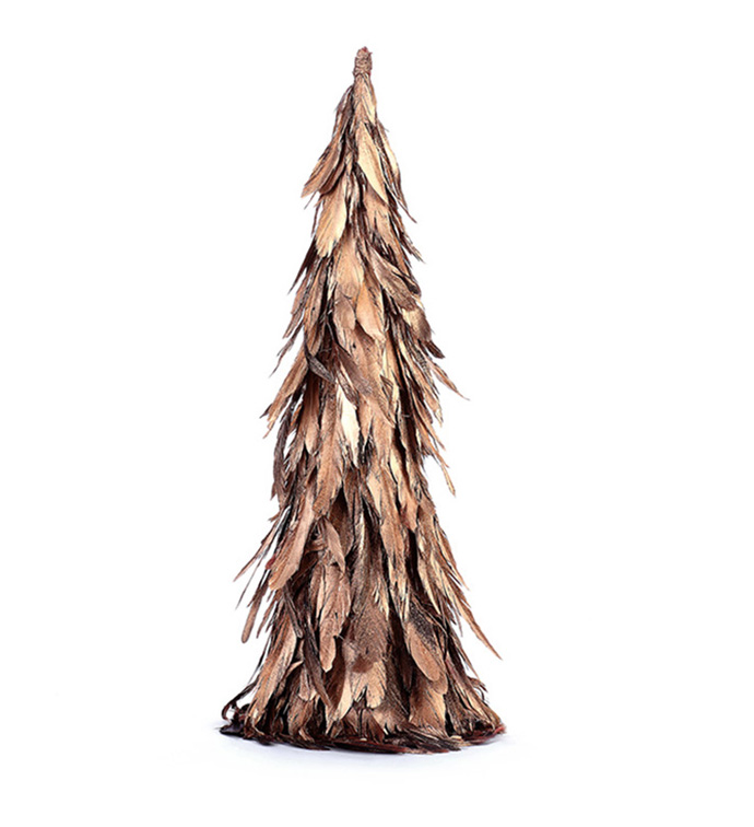 Small Gold Feather Tree Topper