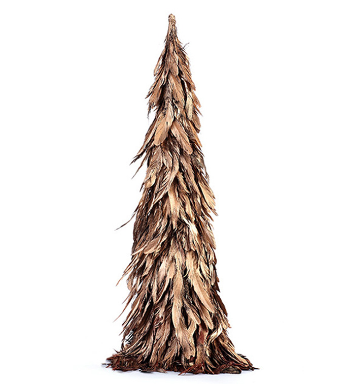 Large Gold Feather Tree Topper