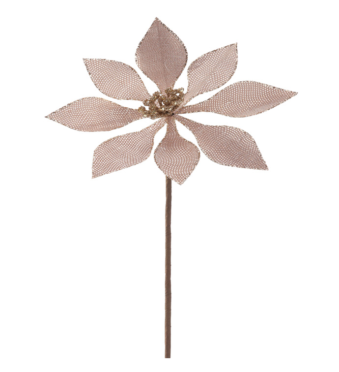 Rose Gold Poinsettia Stem
