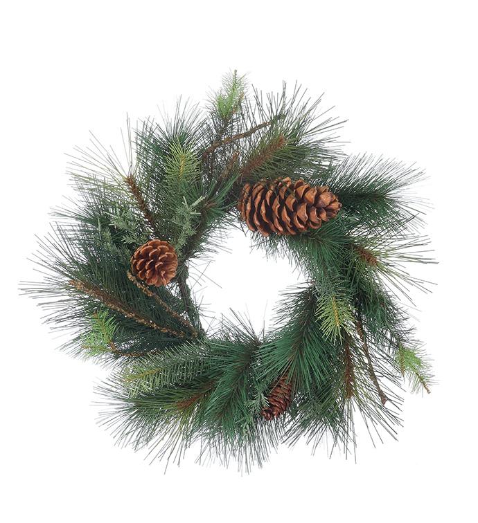 Sugar Pine Juniper Cone Wreath