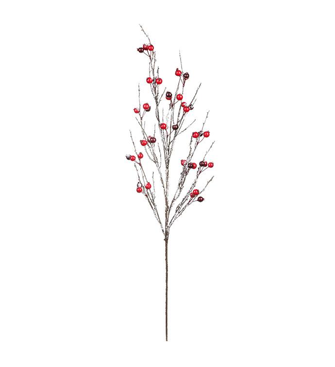 Red/Burgundy Snow Berry Branch