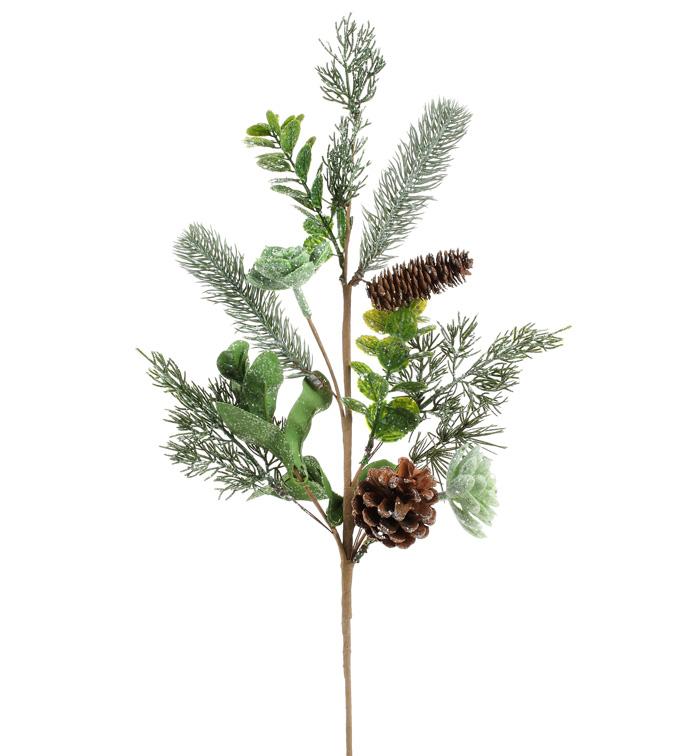 Shimmer Pine/Succulent Spray