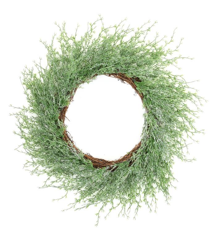 Wispy Iced Pine Wreath