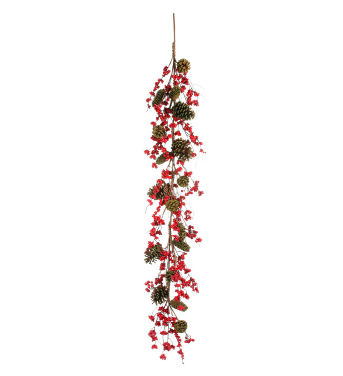 Red Berry Cone Garland