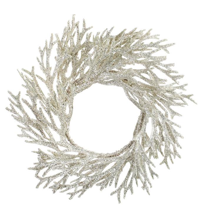 Silver Staghorn Fern Wreath