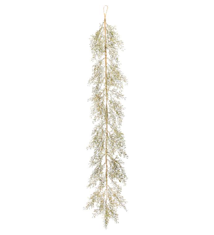 Gold Asparagus Fern Garland