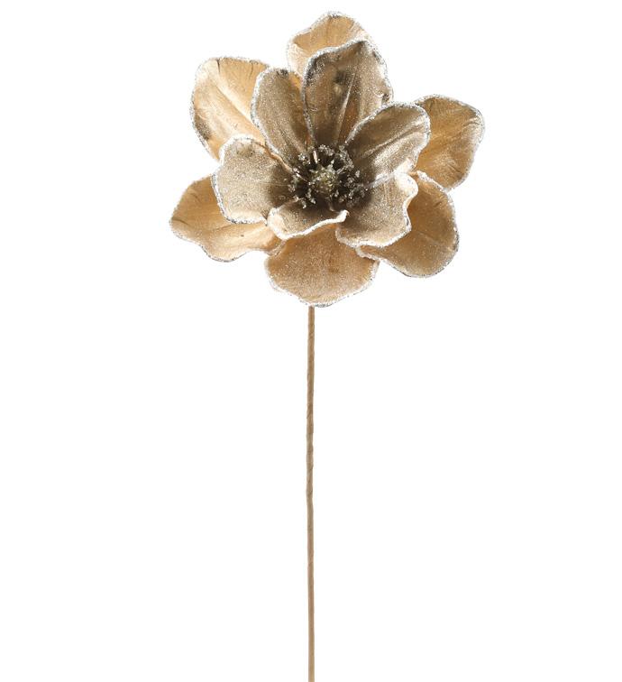 Gold Shimmer Magnolia Stem