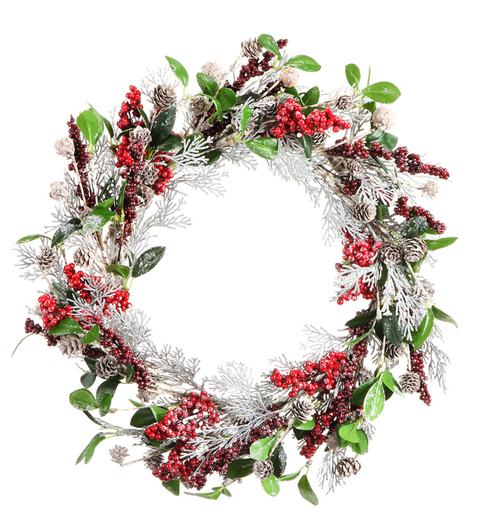 Elegant Birch Berry Wreath