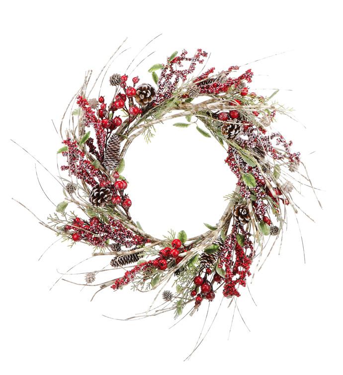 White Birch Berry Wreath